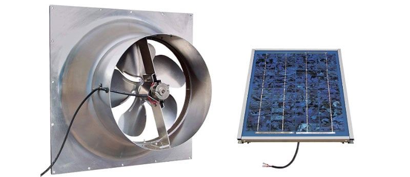 natural light attic fan